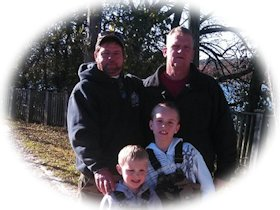 U.S. Army Sgt. Rick Warren and Sons Christopher and Wesley - October 26, 2013, click here for a larger image...